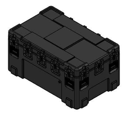 Reusable plastic case