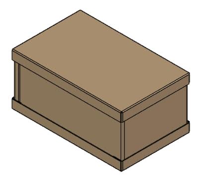 tri wall corrugated cardboard graphic